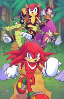 Knuckles And The Chaotix Crew by marcotte