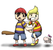 Ness and Lucas by efrejok