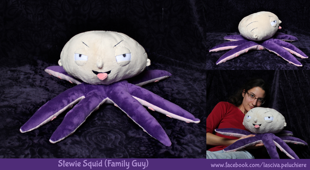 Stewie Squid custom plush by Peluchiere