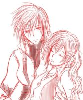 FFXIII-Lightning and Serah by Alasse-Tasartir