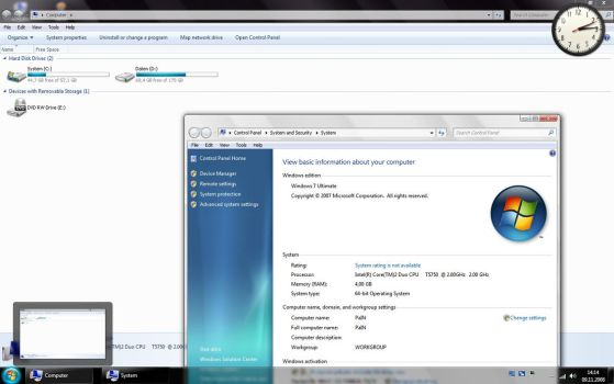 Windows 7 6801 with Superbar by biountot