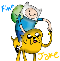 Finn and Jake. by Kittenzarecute123