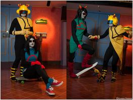 Homestuck: Skaters by CosplayerWithCamera