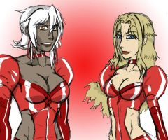 Crimson Delmos Margot and Ava by KO-Corral