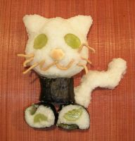 rice ball kitty by Panda-Bear-Hug-XD