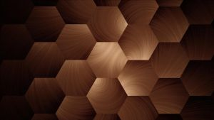 Wooden Honeycomb by amethystfirefly