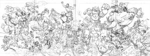Invincible 60 cover pencils by RyanOttley