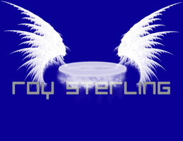 Roy Sterling Typography Blue. by Mistress-Fluffeh