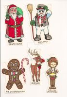 Christmas Character Tags 01 by Gummibearboy