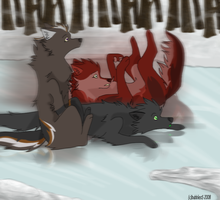 The Bloorows  on the ice by Bubbl3sS