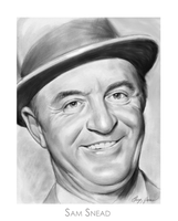 Golf Legend Sam Snead by gregchapin