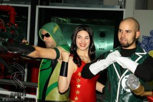 Arrow,Donna and a Guy by Santy-Orm