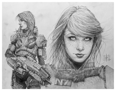 Commander Shepard by tomasoverbai