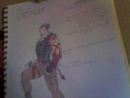 Demon, Son of Hellboy by burtonmanrocks19