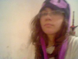Me with my... well... black and purple bonnet by MeSadChild