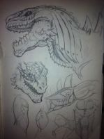 Zilla: head detailing start by Sharpe19
