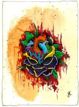 Bloody Heart-like Rose Abomination by mubbamubba