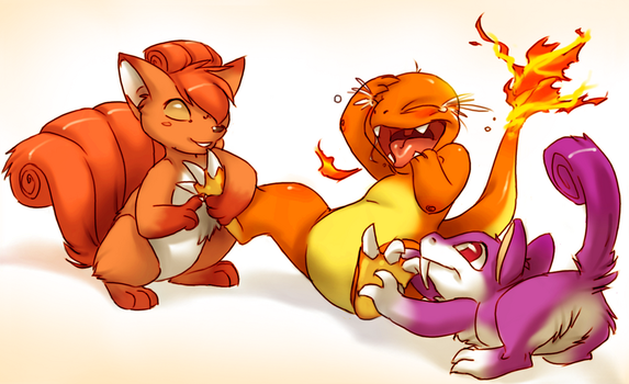 How to make a Charmander hysterical by Lechensko