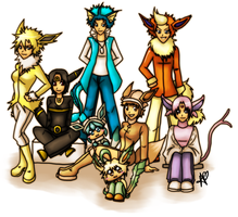 Pokemon:EeveeFamily by TheGrief