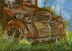 Ruined car by EstherDom