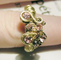Swirly Pink Ring by Izile