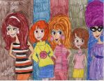 DigiGirls 1960s by Toongrrl