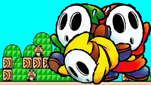 Shy Guy Trio PSP Background by blackdemondragon13