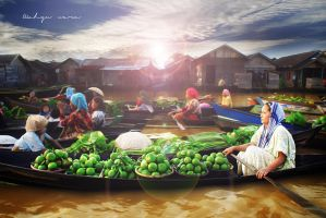 Floating Market by wahyuwara