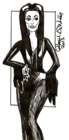 Inktober series 2015: Morticia Addams by Ryvienna