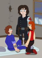 James, Sin and Winter Soldier by MCsaurus