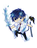 Ao No Exorcist - Chibi Rin by sapphiresky1410