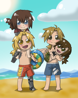 A Chibi Trip To The Beach by Kay-Jay97