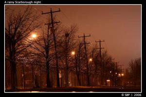 A rainy Scarborough night. by Strahan-Bad