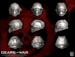 Gears of War COG Helmets by YemYam