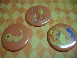 Pokemon Buttons: 3 Evolution Chain For Sale by R3YD1O