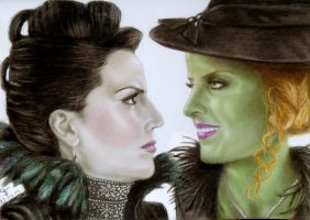 Wicked vs Evil by tanjadrawing