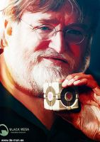 Gabe Newell - Valve time by De-monVarela