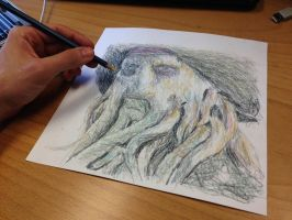 Left hand drawing in progress by AtomiccircuS