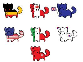 Cheap Flag Cat adopts! (1 left!!!) by ArtisticAnubis