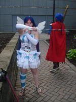 Stocking cosplay... with Ike by Deckronomicon
