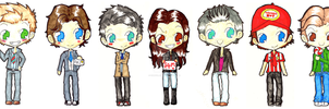 SUPERNATURAL - Chibi Cast by ChibiVillage