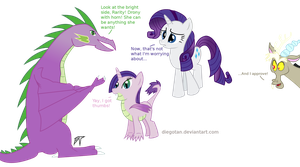 Rarity x Spike drony kid xover by DiegoTan