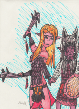 Warrior Doodles by TheReptilianGeneral