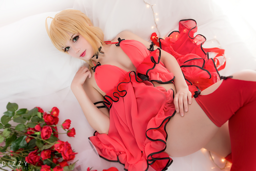 Fate/Extella - Saber Nero (Babydoll version) 4 by KiaraBerry