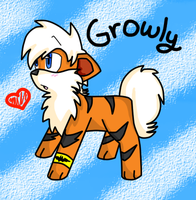 Growly the Growlithe by Retzuko