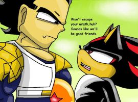 Vegeta and Shadow by XxInsaneLunaticxX