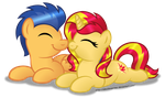 Commission:  SunsetSentry Nuzzle by AleximusPrime