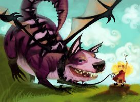 Dragon Dog Fan Art by Nutthead