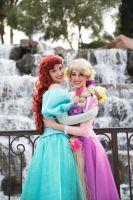 Ariel and Rapunzel by ReaganKathryn