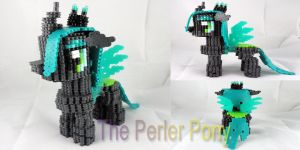 My Little Pony 3D Perler Queen Chrysalis by Perler-Pony